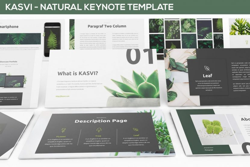 Kasvi  Nature Keynote Template  Weidea