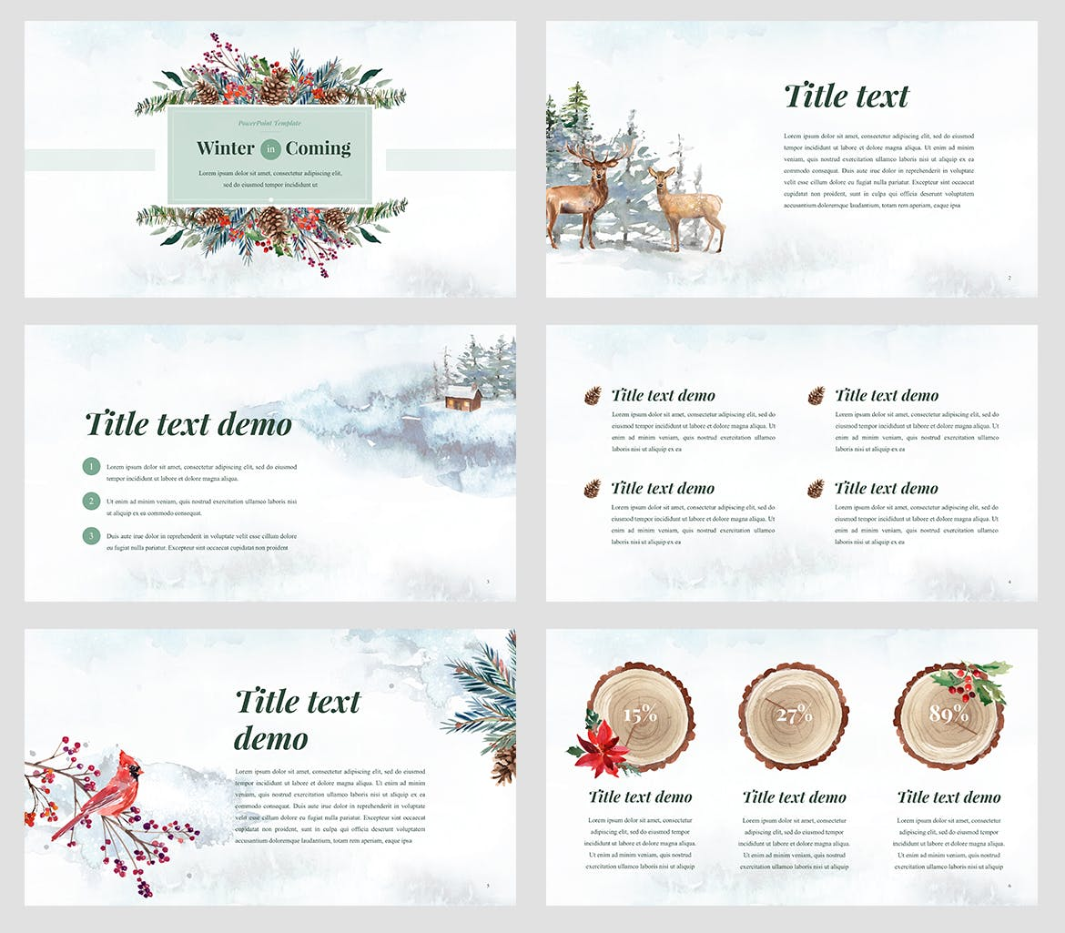 Winter watercolour powerpoint template weidea winter watercolour powerpoint template with included graphics toneelgroepblik Image collections