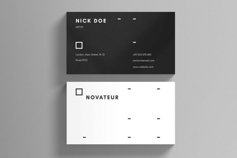 Black and white minimal business card template weidea black and white minimal business card template reheart