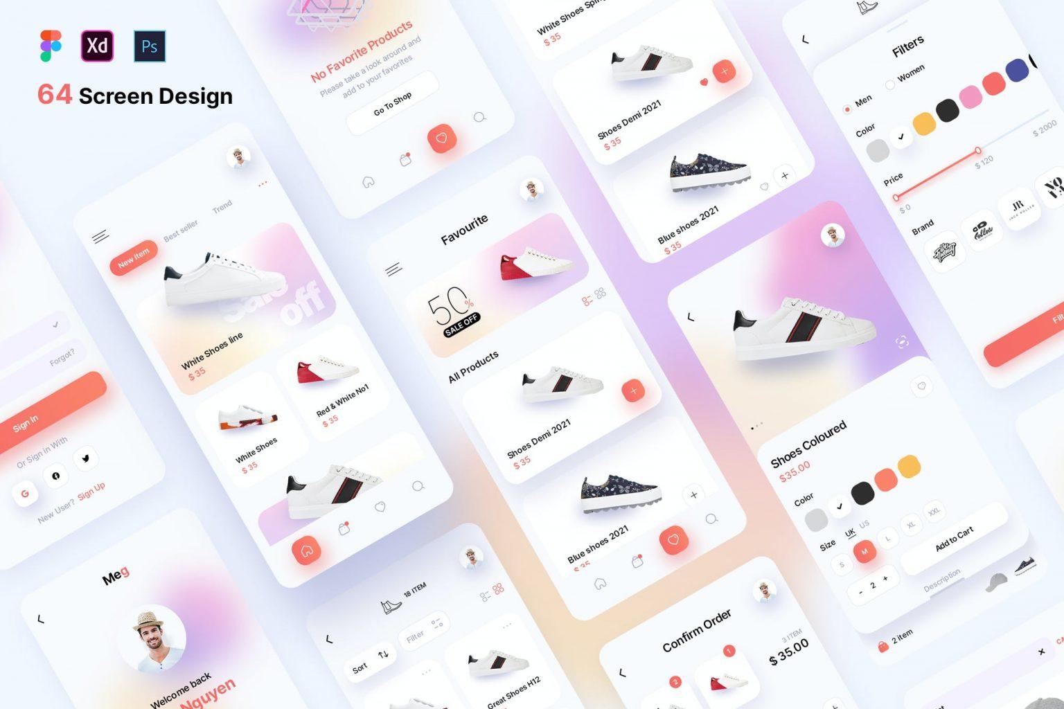 Meg – App Store UI kit (Version 2.0)